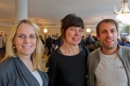 Elin Pehrandel, Katarina Persson Pagels och Anders Norrman. Foto: Anders Löwdin