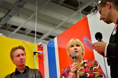 Margot Wallström och Bengt Ohlsson. Foto: Anders Löwdin