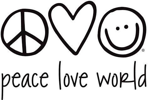 Peace Love World Logo