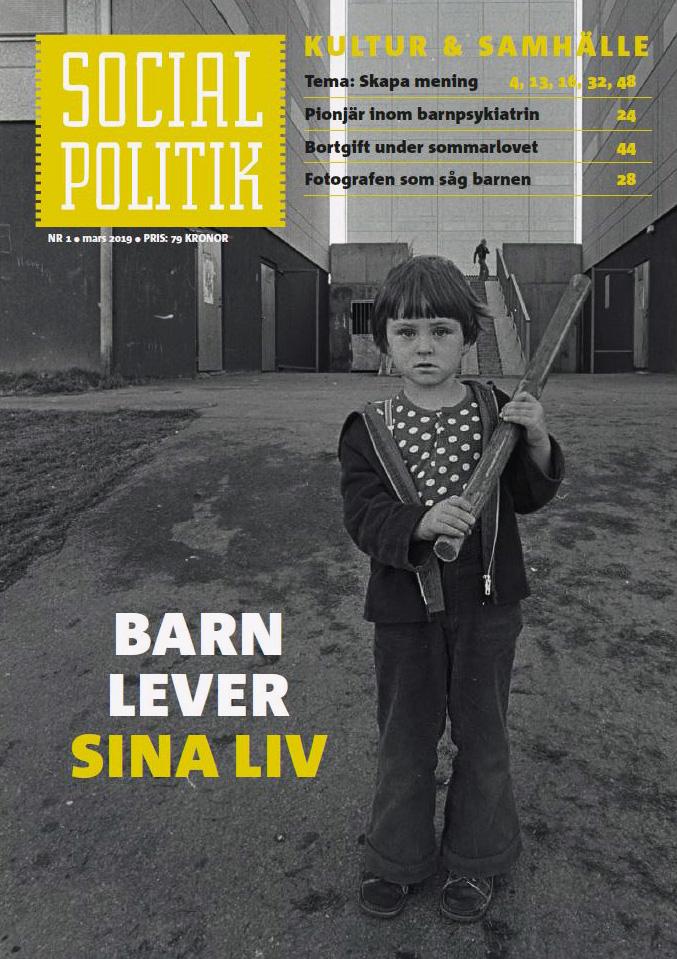 SOCIALPOLITIK NR 1 2019 - Förstasida
