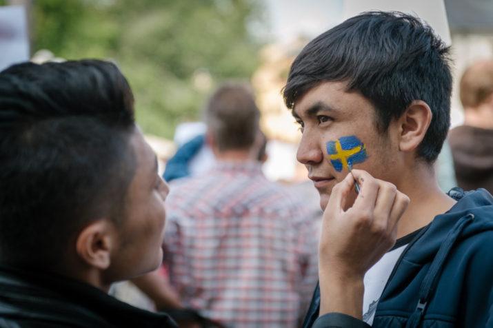 Ung i Sverige, Medborgarplatsen, Stockholm den 19 augusti. Foto: Anders Löwdin