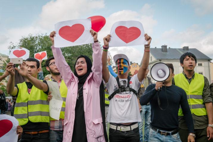 Ung i Sverige. Medborgarplatsen, Stockholm 19 augusti 2017. Foto: Anders Löwdin