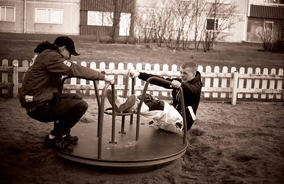 Lucas Storslätten och Robin Axelsson. Foto: Bibbie Friman